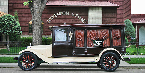 The 1920's glass-walled hearse.